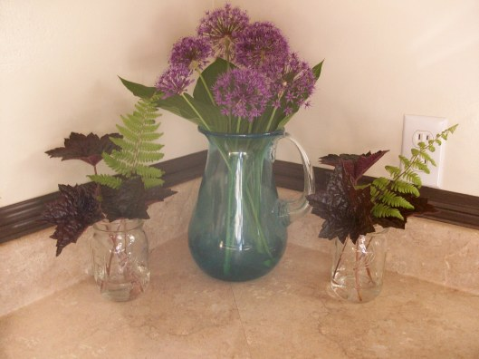 Purple & Green Arrangement