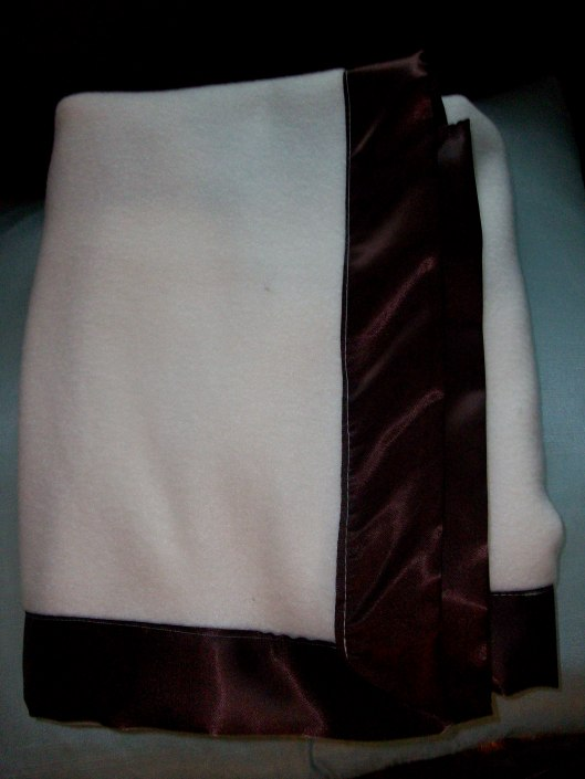 Conner's Fleece Blanket w/Satin Trim