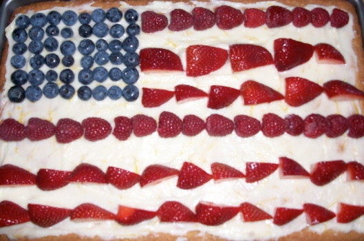 Flag Day Fruit Pizza